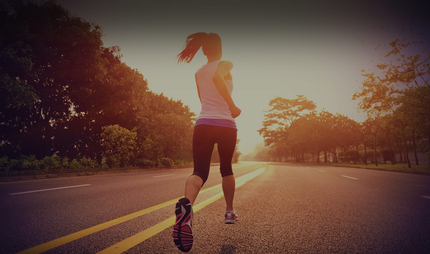 Image of woman running for physiotherapy clinic in London, Ontario